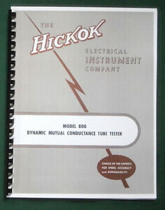 Hickok 800 Instruction Manual Tube Charts 11x17 Schematic Protective Covers