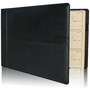 Sale Premium Pu Leather Business Check Binder 7 Ring 3 On Page Checkbook Holder