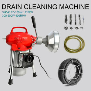 3 4 4 Sectional Pipe Drain Cleaning Machine Electric Snake Sewer Cleaner Gq 75