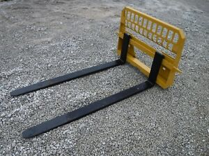 Caterpillar Skid Steer Attachment 72 6 600 Pound Pallet Forks Ship 199