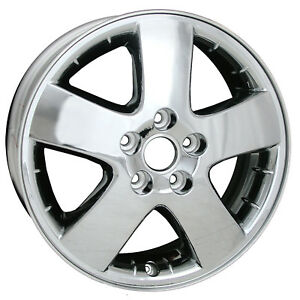 17 X 6 5 5 Spoke Direct Fit Replacement Pontiac Alloy Wheel Cladded Chrome 6579