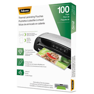 Fellowes Laminating Pouches Letter Size Hot Pouch 9 X 11 5 5 Mil 100 Pack