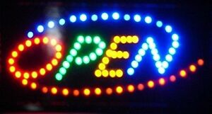 open Neon Led Electric Sign For Business Retail 19 X 10 Restaurant Cafe Bar