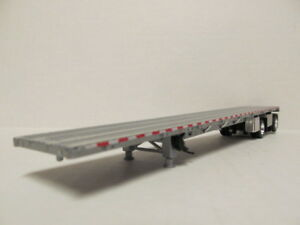Dcp 1 64 Scale Wilson Road Brute Flatbed Trailer Silver Deck Silver Frame