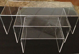 Acrylic Table Display Risers stands