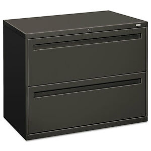 Hon 700 Series Two drawer Lateral File 36w X 19 1 4d Charcoal 782ls