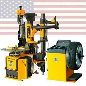 806a350h 70d Tire Changer Machine Combo Wheel Balancer Rim Clamp Outside14 28