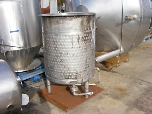 Used 100 Gallon Stainless Steel Tank Open Top Dish Bottom