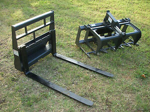 Toro Dingo Skid Steer Attachment 42 Root Grapple And Pallet Forks Ship 149