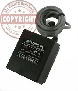Topcon Bc 10b Battery Charger For Gts 3 Surveying Total Station bt 15q 4 Pin
