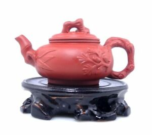 Yixing Zisha Clay Hand Made Tree Bamboo Themed Teapot Tea Brewing 125ml 011018