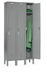 Steel Locker Single Tier 3 Doors Nexel Capital Storage Gym School Cs153kd Office