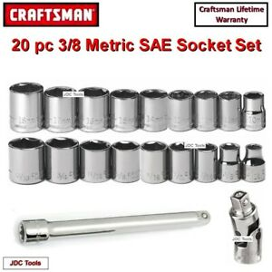 Craftsman 24 Pc All Sae Deep And Standard 1 2 Drive Impact Socket Set New 12
