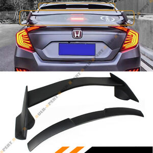 For 2016 2018 Honda Civic 4dr Type r Style Trunk Wing Rear Window Roof Spoiler