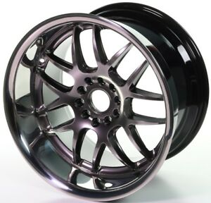 Xxr 526 Silver 18 X 9 10 5 Deep Dish Huge Lip Staggered Wheels Rims 5x4 5 Stance