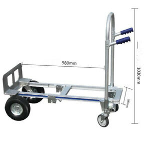 Multi Function Aluminum Alloy Folding Handcart Truck Trolley Truck Carrying Cart