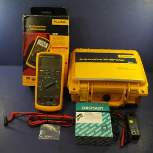 Fluke 88v Automotive Meter Rpm Probe Box Hard Case Brand New