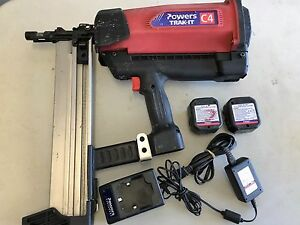 Powers Trak It C4 Gas Fastening System With New Charger Adapter