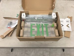 Lighting Recessed Edgelit Led Emergency Exit Sign Light Green New Open Box