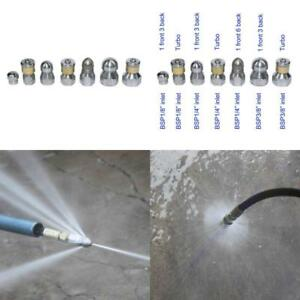 Xzt 7pack 4000psi Sewer Jetter Nozzle Kit rotating Button Nose pressure Washer