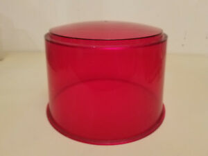 Nos Vintage Emergency Red Beacon Light Lens Police Emergency Fire 8 1 4