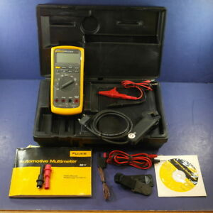 Fluke 88 V a 88 5a Automotive Kit Rpm Probe Hard Case Excellent