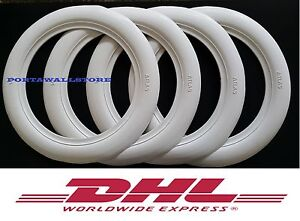 Classic Oldtimer 13 Wide White Wall Portawall Tire Insert Trim Set Of4