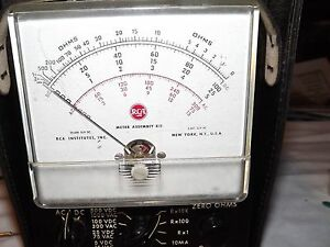 Vintage Rca Institutes Meter Assembly Kit With Cables Leads Leather Case Ohms