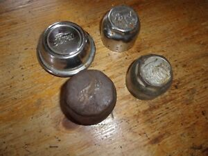 Lot Of 4 Ford Hub Axle Grease Dust Covers Threaded Hubcaps