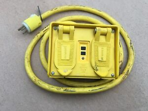 Hubbell Gfp20m Portable Gfci W Cord 120vac 4 Outlet Circuit Guard