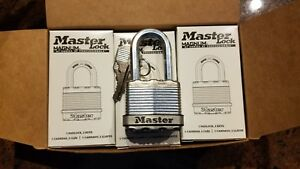 Lot Of 6 Master Lock M1kalf Magnum Stainless Carbide Tough cut Shackle