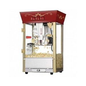 Theater Popcorn Maker Pop Corn Style Popper Machine Commercial Movie Party Home