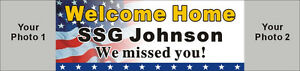 2ftx8ft Custom Personalized Military Welcome Home Banner With 2 Of Your Photos