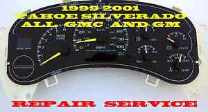 Gmc Tahoe Suburban Software And Odometer Calibration Service 99 01 02