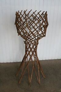 Vintage Adirondack Primitive Folk Art Folding Collapsable Wood Plant Stand Cabin