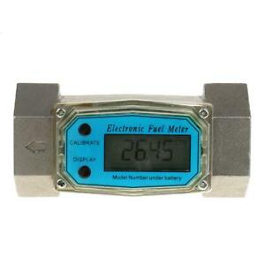 1 5 Electronic Turbine Digital Diesel Gasoline Fuel Flow Meter 38 380l min