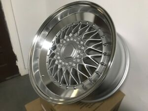 18 Staggered Silver Rs Style Rims Wheels Fits Benz C Class S Class Aggressive