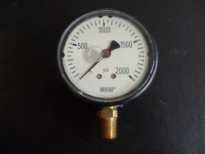 Wika Pressure Gauge 0 2000 Psi 2 5 8 Liquid Filled Face Steam Punk
