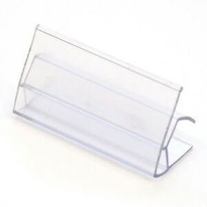 Price Tag Holder Ticket 3 4 Wood Shelf Display Fixture Clear Lot Of 200 New
