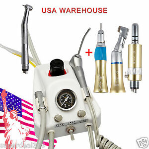 Portable Dental Turbine Unit Sn4 High low Speed Handpiece 4 Hole Fast To Usa