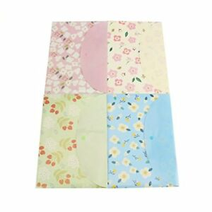 New Fasmov Floral Document Folder With Snap Buttonpack Of 16bluepinkyellowgreen