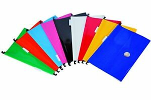 New Dello Filing Briefcase With 10 Assorted Color Hanging Folders Free Shipping