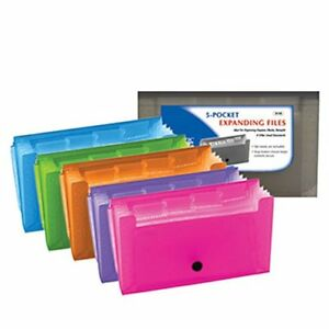 New Bazic 13 Pockets Coupon personal Check Size Expanding File Case Of 24