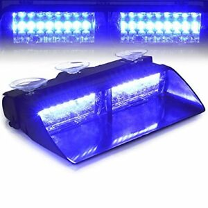 T Tocas 16 Led High Intense Led Windshield Emergency Hazard Warning Strobe Blue