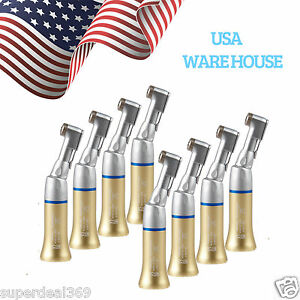 8 usa Nsk Style Dental Low Speed Contra Angle Handpiece E type Latch Ep Gold Cn