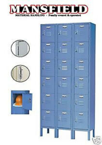 New Nexel Paramount Steel Locker Storage Gym School P6158kd 6 Tier 3 Wide