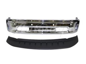 Front Bumper Face Bar Chrome Air Dam With Hole For 2013 2017 Dodge Ram 1500