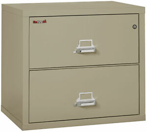 Fire Resistant File Cabinet 2 Drawer Lateral 31 Wide 1 Ea