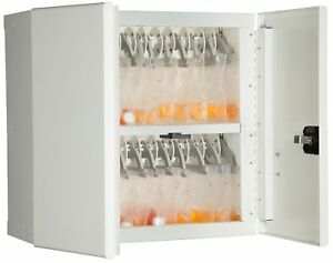 Medical Storage Cabinet With Cam Lock 24 H White 1 Ea
