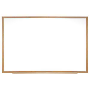 Ghent Magnetic Painted Steel Whiteboard With Wood Frame 4 h X 5 w 1 Ea